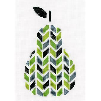 Pear On Aida Counted Cross Stitch Kit-5.5