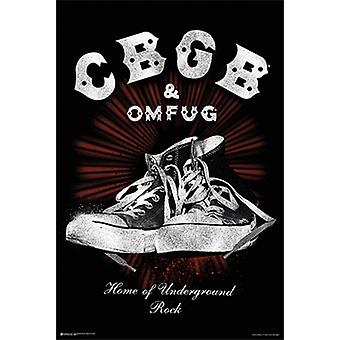 CBGBs Home Of Underground Rock Poster Poster Print