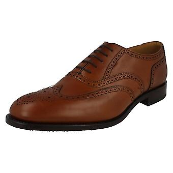 Mens Loake Leather Lace Up Brogue Shoes - Severn2