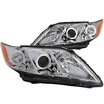 Anzo USA 121180 Toyota Camry Projector with Halo/Chrome Clear with Amber Reflectors Headlight Assembly - (Sold in Pairs)