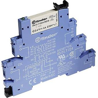 Finder 38.51.0.240.0060 - 6A Relay Interface Module, EMR, SPDT-CO 250V AC
