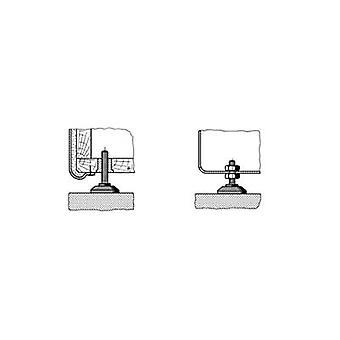 PB Fastener 148 3805 699 11 Foot screw fixing Black (Ø x H) 38 mm x 60 mm 1 pc(s)