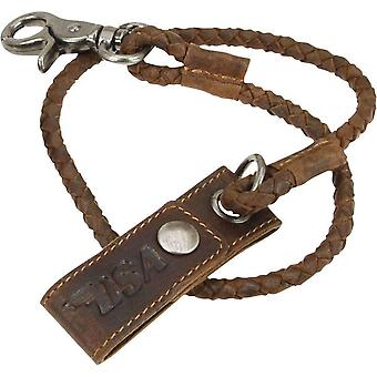 BSA Leather Wallet Strap - Brown