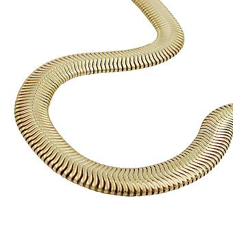 AMD 6x2mm serpente Collana oro placcato 45cm