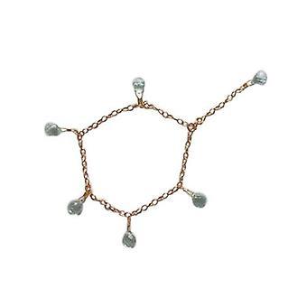 Gold children bracelet children jewelry aquamarine bracelet VERENA