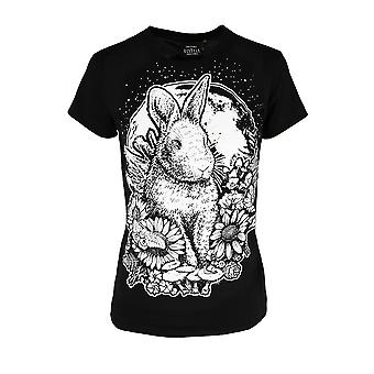 Restyle - Moon Bunny - Women's Fitted Cotton T-Shirt