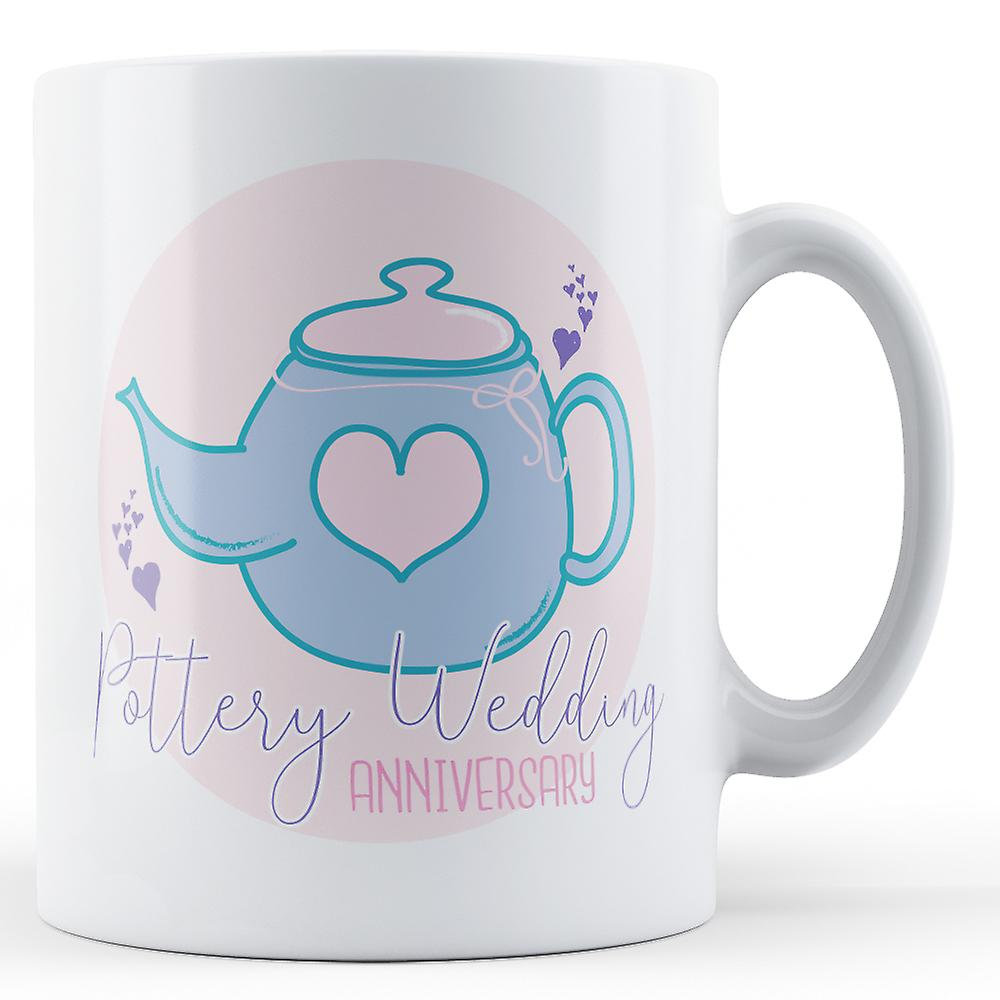 Pottery Pottery Wedding Mug Anniversary8thPrinted Wedding bfv76yIYgm