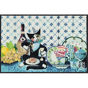 Rosina Wachtmeister doormat cooking cat 50 x 75 cm washable dirt mat