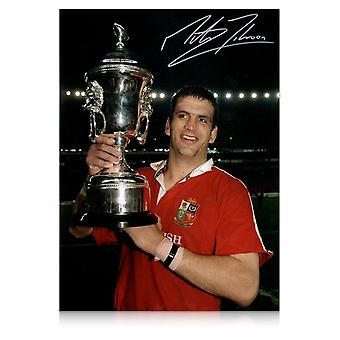Martin Johnson Signed Photo: British Lions Captain