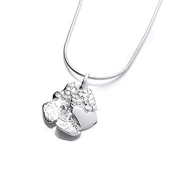 Cavendish französische Silber Herzanhänger Cluster ohne Kette