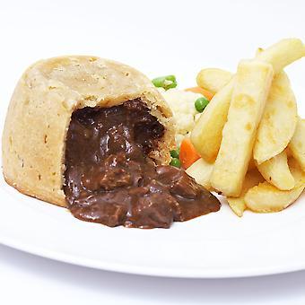 Land-Bereich eingefroren Steak and Kidney Pudding Kuchen