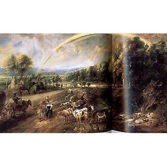 Пейзаж с радугой, Питер Пауль Рубенс, 40x60cm с лотка