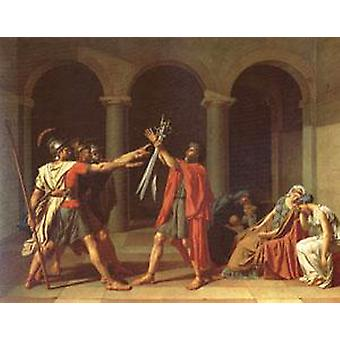 The Oath of the Horatii, Davi Jacques-Louis, 50x40cm