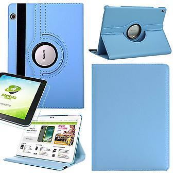 Für Apple iPad Pro 11.0 Zoll 2018 360 Grad Hülle Cover Tasche Hellblau Kunst Leder Case Neu + 0,4 mm Hart Glas