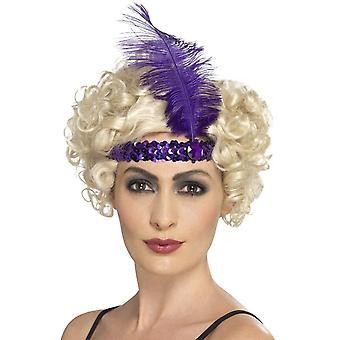 Flapper hoofdband, paars