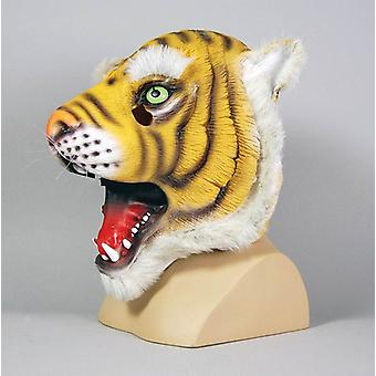 Rubber Tiger Overhead Mask.