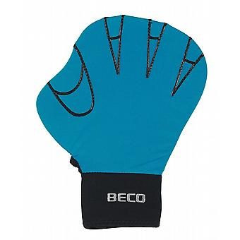 BECO Full Swimming Gloves (Small) - Turquoise