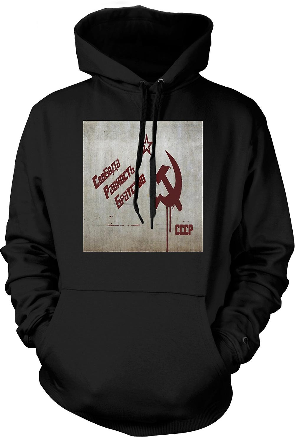 Mens Hoodie - Soviet Union - Russia - Cool Design