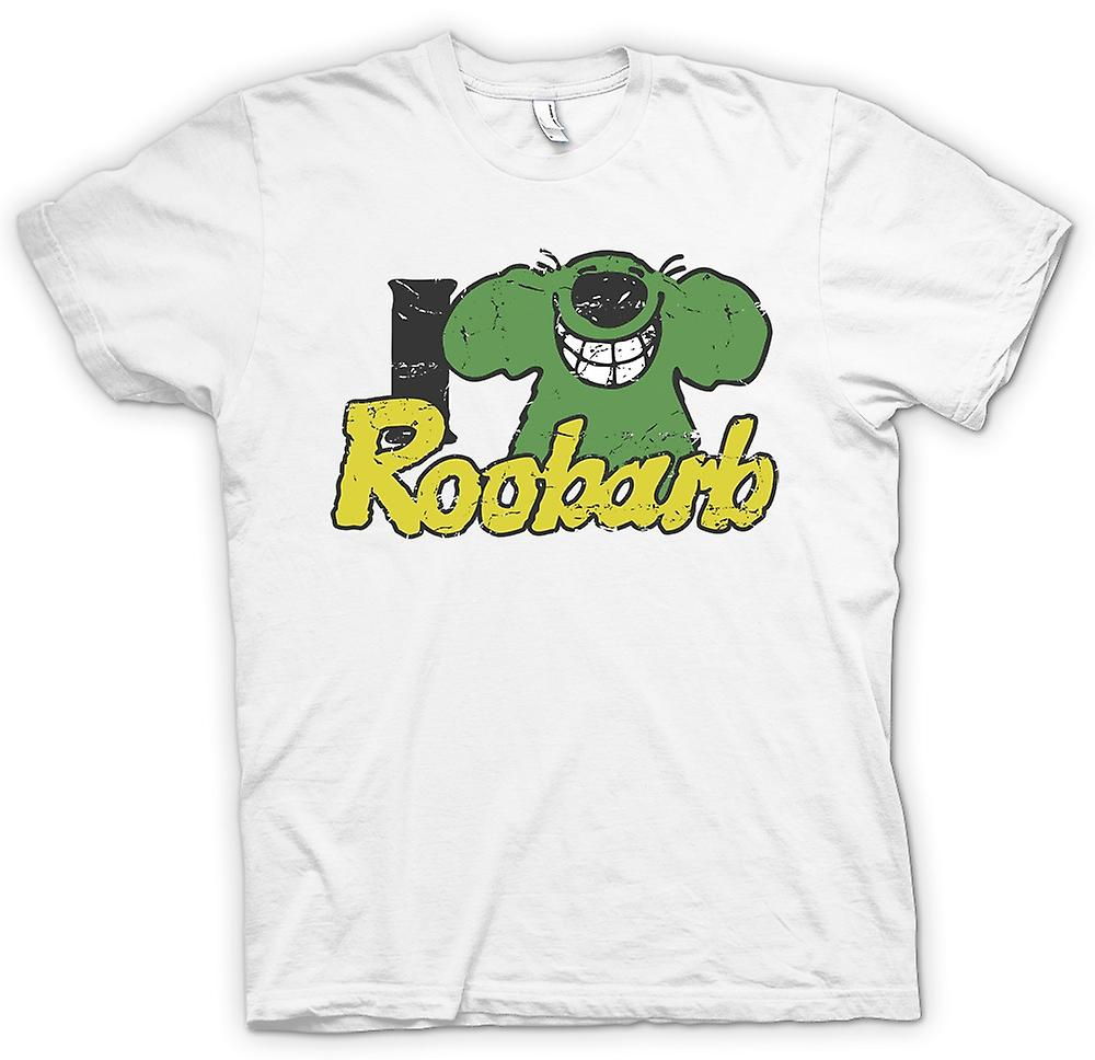Womens T-shirt - I Love Roobarb - Roobarb and Custard Inspired