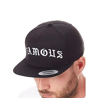 Famous Stars and Straps Black Old Snapback Cap