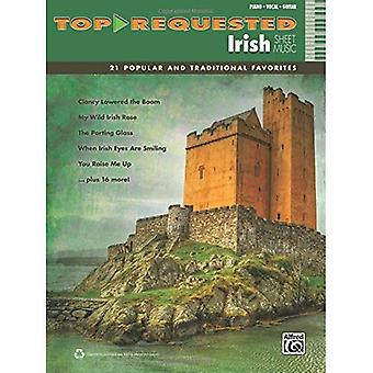 Top-Requested Irish Sheet Music: 21 Popular and Traditional Favorites (Piano/Vocal/Guitar) (Top-Requested Sheet Music)