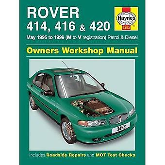 Rover 414, 416 en 420 benzine en Diesel Service en reparatie handleiding: 1995-1999 (Haynes Service en reparatie handleidingen)