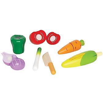 Jeu d'imitation enfant jeux jouets Set de jouets légumes du jardin 0102084
