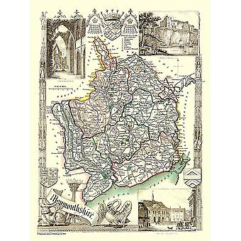 Old Map of Monmouthshire 1836 by Thomas Moule 1000 Piece Jigsaw Puzzle (jhg)