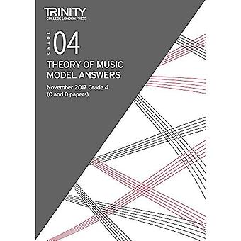 Trinity College London: Theory Model Answers (Nov 2017) Grade 4