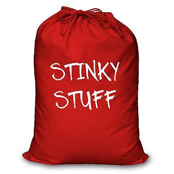 Red Laundry Bag Stinky Stuff
