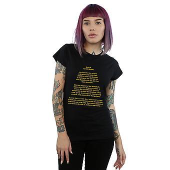 La fuerza de Star Wars mujeres despierta apertura Crawl camiseta
