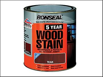 Ronseal 5 Year Woodstain Teak 2.5 Litre