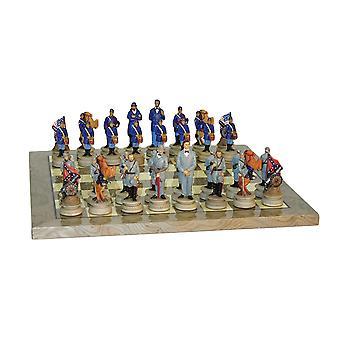 Civil War Generals Chess Set Grey Briar Board