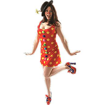 Orion Costumes Womens Red Polka Dot Clown Circus Carnival Fancy Dress