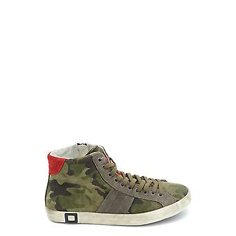 D.a.t.e. Camouflage Leather Hi Top Sneakers
