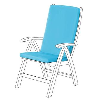 Gardenista® Turquoise Water Resistant Highback Seat Pad for Garden Chair, Pack of 6