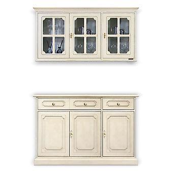 Composition de placard laqué et armoire suspendue