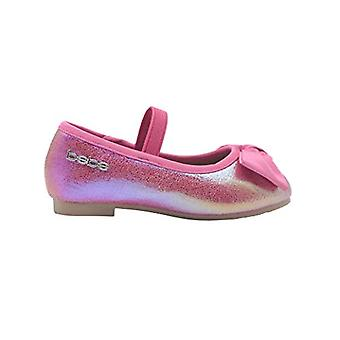 bebe Toddler Girls Ballet Flats Toddler Iridescent Mary Jane Ballerina Chaussures avec arc