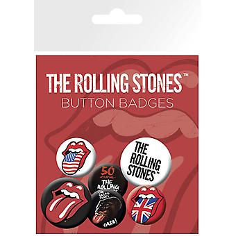 The Rolling Stones Lips Badge Pack