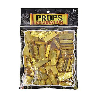 Bristol Novelty Pirate Fake Gold Bars (Pack Of 25)