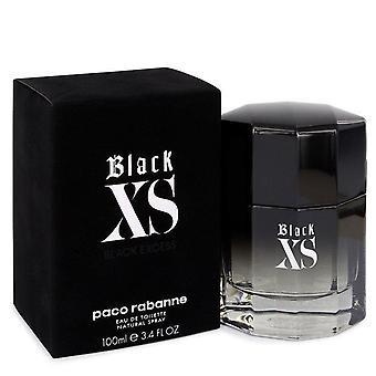 Black Xs Eau De Toilette Spray (2018 New Packaging) By Paco Rabanne 100 ml