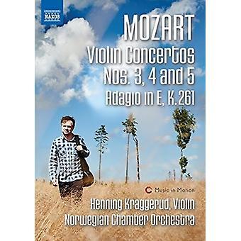 Mozart: Conciertos para violín 3-5 y Adagio en importación de Estados Unidos E K 261 [DVD]