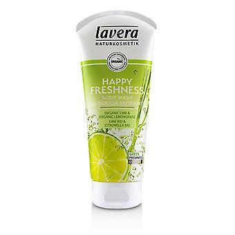Lavera Body Wash - Happy Freshness Organic Lime & Organic Lemongrass) - 200ml/6.6oz