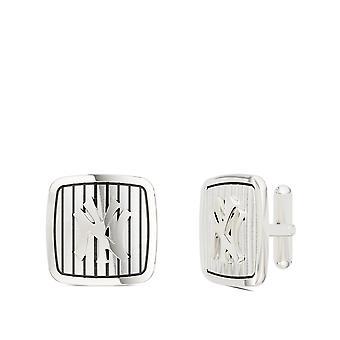 New York Yankees Pinstripe logo afgeronde Manchetknopen