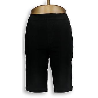 Isaac Mizrahi Live! Women's Shorts 24/7 Stretch Pull-on Black A299793