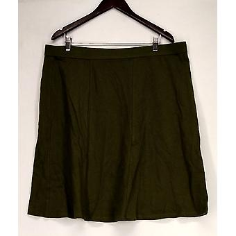 Women w/ Control Skirt Tummy Control A-Line Style Solid Green A235937