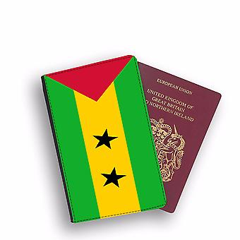 S:O TOME AND PRINCIPE Flag Passport Holder Style Case Cover Protective Wallet Flags design