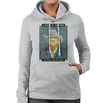 A.P.O.H Vincent van Gogh I Dream Of Painting Quote Women's Hooded Sweatshirt
