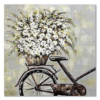 Canvas, Picture on canvas, Flowers on a bicycle