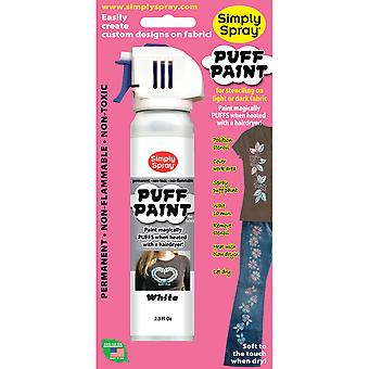 Spray Puff Fabric Paint 2.5 Ounces White Ss3804 006P